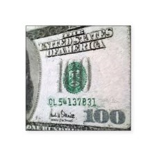 "All About The Benjamins Square Sticker 3"" x 3"""