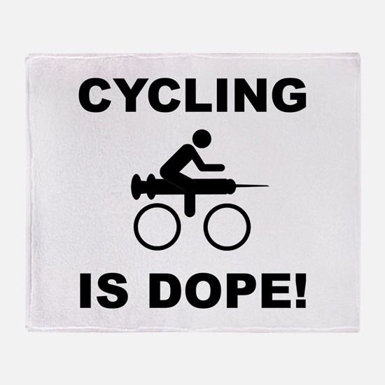 Cycling Dope Throw Blanket