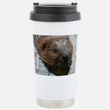 Beaver  swimming  Stainless Steel Travel Mug