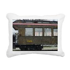 Side Caboose Rectangular Canvas Pillow