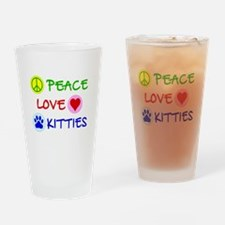 Peace-Love-Kitties Drinking Glass