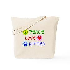 Peace-Love-Kitties Tote Bag