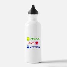 Peace-Love-Kitties Water Bottle