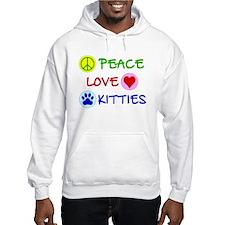 Peace-Love-Kitties Hoodie
