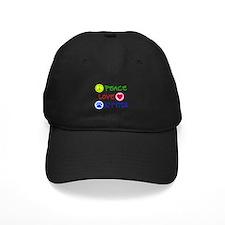 Peace-Love-Kitties Baseball Hat