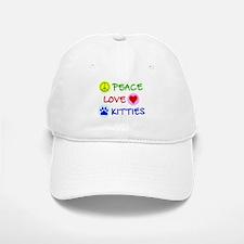 Peace-Love-Kitties Baseball Baseball Cap