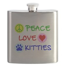 Peace-Love-Kitties Flask