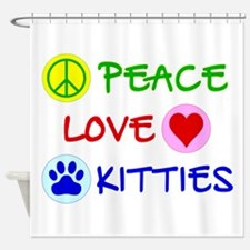Peace-Love-Kitties Shower Curtain