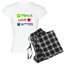 Peace-Love-Kitties Pajamas
