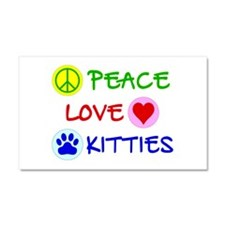 Peace-Love-Kitties Car Magnet 20 x 12