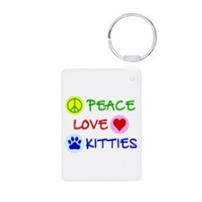 Peace-Love-Kitties Keychains