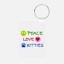 Peace-Love-Kitties Keychains