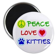 Peace-Love-Kitties Magnet