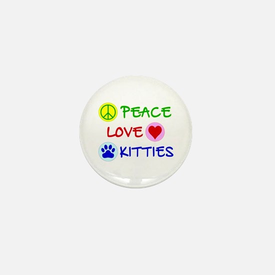 Peace-Love-Kitties Mini Button