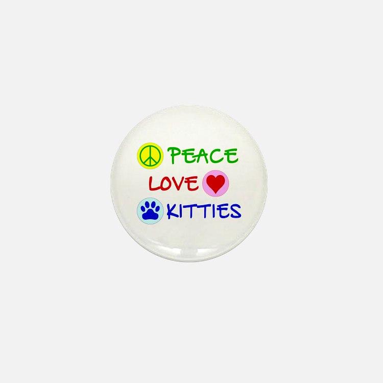 Peace-Love-Kitties Mini Button