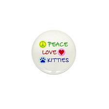 Peace-Love-Kitties Mini Button (10 pack)
