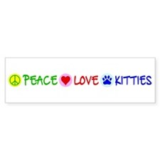 Peace-Love-Kitties Bumper Sticker