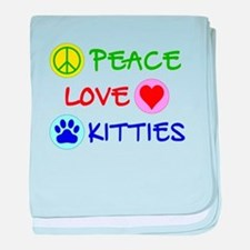 Peace-Love-Kitties baby blanket