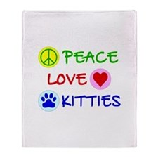 Peace-Love-Kitties Throw Blanket