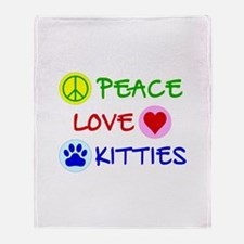 Peace-Love-Kitties Throw Blanket