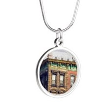 The Brownstone Silver Round Necklace