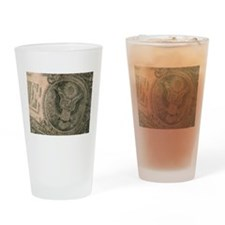 The Almighty Dollar Drinking Glass