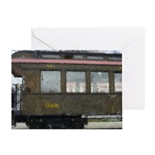 Side Caboose Greeting Card
