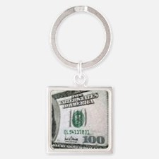 All About The Benjamins Square Keychain