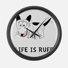 Dog Ruff Large Wall Clock
