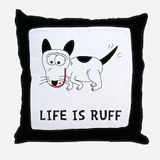 Dog Ruff Throw Pillow