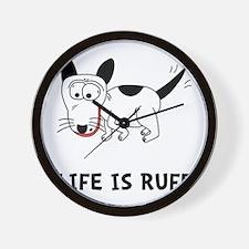 Dog Ruff Wall Clock