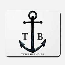 Tybee Island, GA Anchor II Mousepad