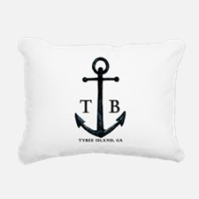 Tybee Island, GA Anchor II Rectangular Canvas Pill