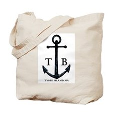 Tybee Island, GA Anchor II Tote Bag / Beach Bag