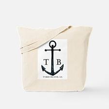 Tybee Island, GA Anchor II Tote Bag / Beach Bag