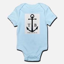 Tybee Island, GA Anchor II Baby One Piece Outfit