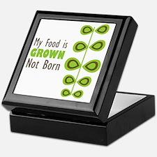 My food is grown not born Keepsake Box