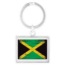 Vintage Jamaican Flag   Landscape Keychain