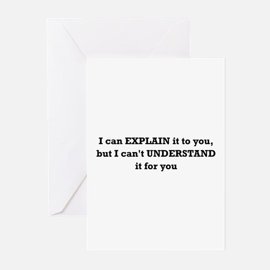 Explain Understand Greeting Cards