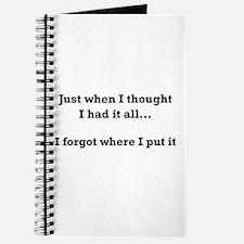 Forgot Where Put Journal