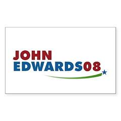 JOHN EDWARDS PRESIDENT 2008 Rectangle Decal