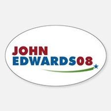 JOHN EDWARDS PRESIDENT 2008 Oval Decal