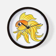 Cartoon Goldfish Wall Clock