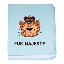 Fur Majesty baby blanket