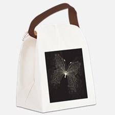 Swirly Butterfly  Canvas Lunch Bag