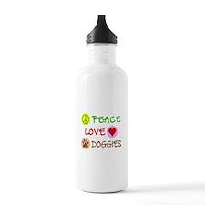 Peace-Love-Doggies Water Bottle