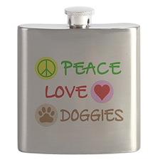 Peace-Love-Doggies Flask