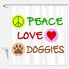 Peace-Love-Doggies Shower Curtain