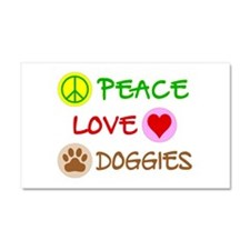 Peace-Love-Doggies Car Magnet 20 x 12