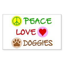 Peace-Love-Doggies Decal